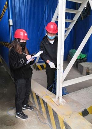 我公司为某公司混凝土搅拌站做雷电防护装置检测工作