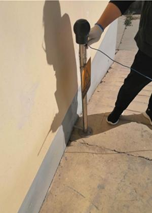 我公司为某单位库房做雷电防护装置检测工作