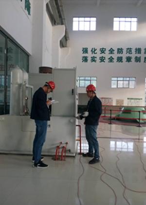 我公司为某单位水力发电站做雷电防护装置检测工作